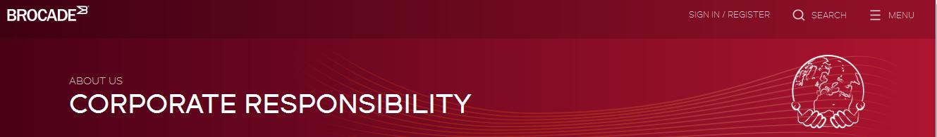 Brocade Corporate Responsibility
